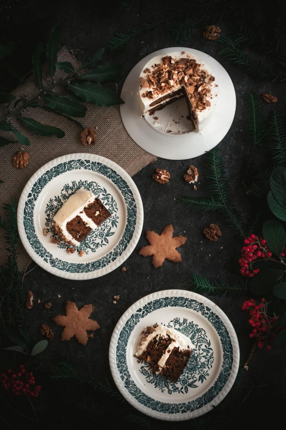 Carrot cake de Noël {sans gluten, IG modéré, végétarien}