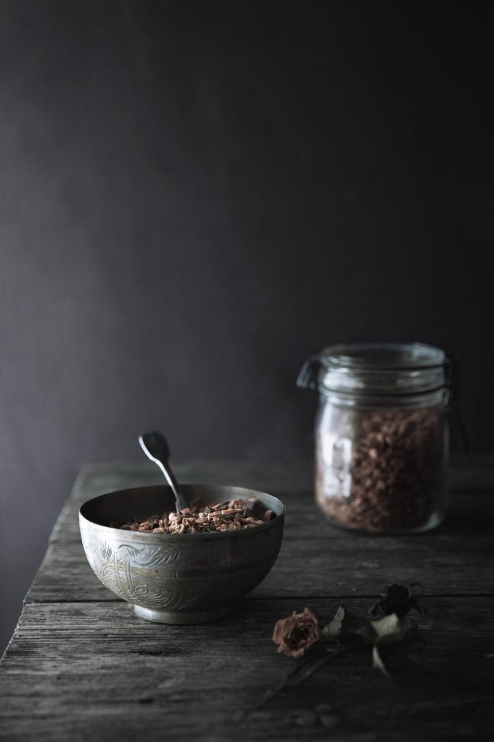 Granola maison : recette de base + deux variantes {sans gluten, IG bas, vegan}