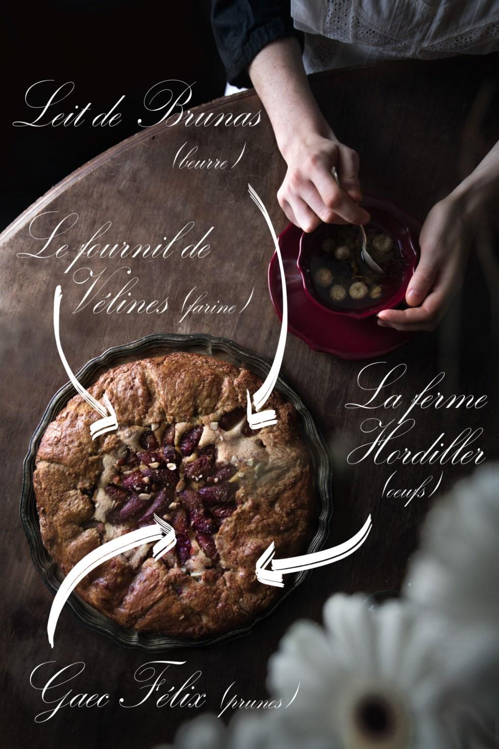 Tarte aux prunes et crème d'amande