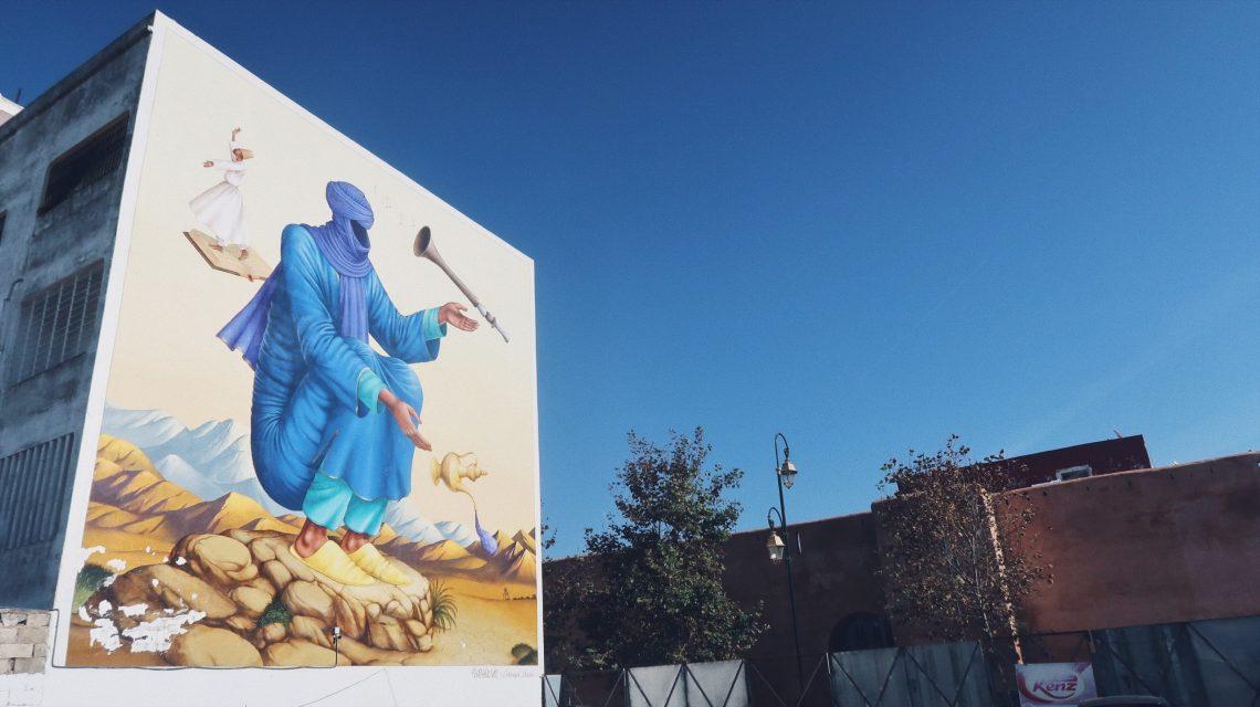 Streetart au parking de Rabat