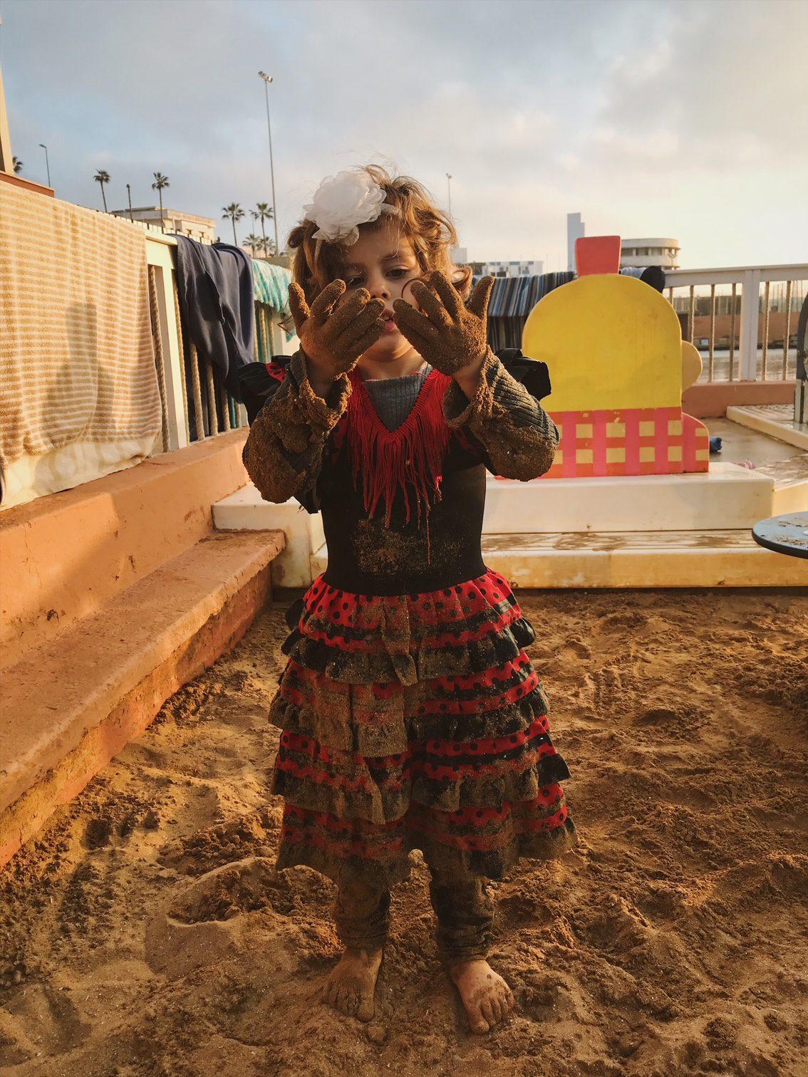 Payna dans le sable à Casablanca