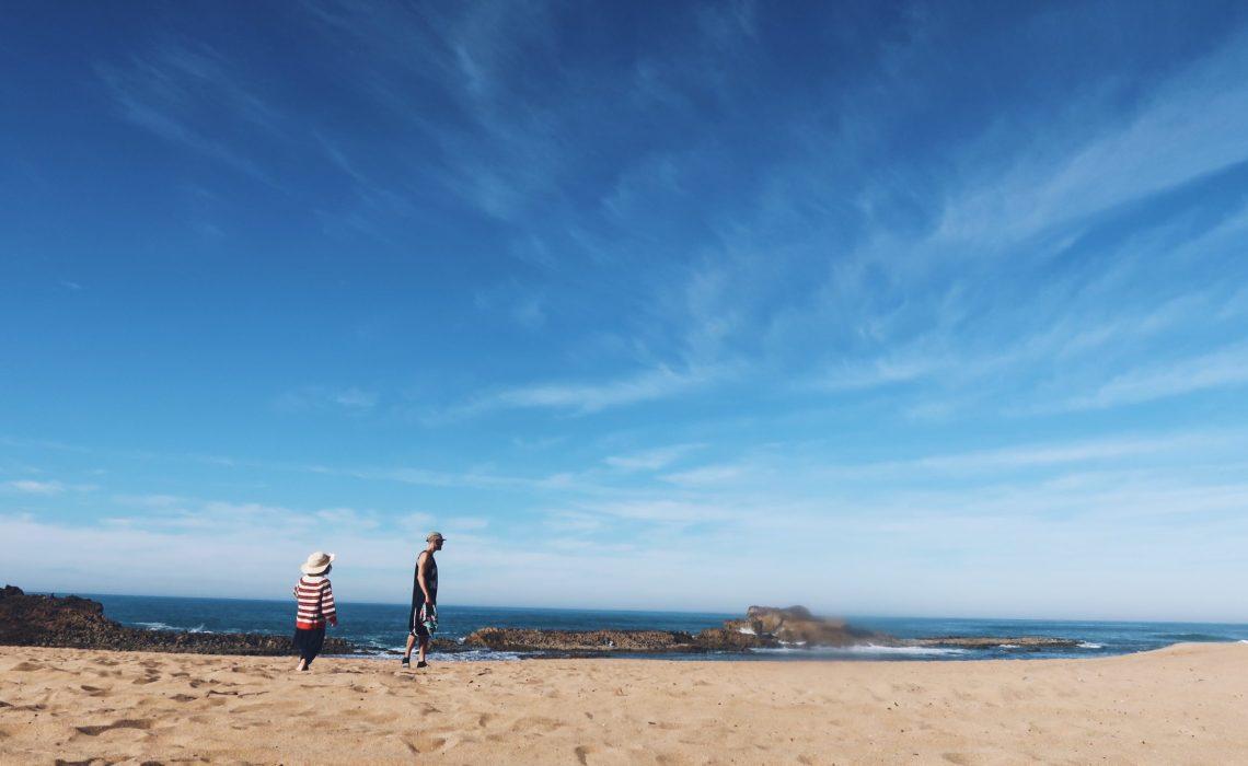 Oualidia sur la plage