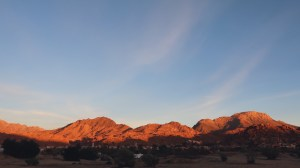 Coucher du soleil à la palmeraie de Tafraout