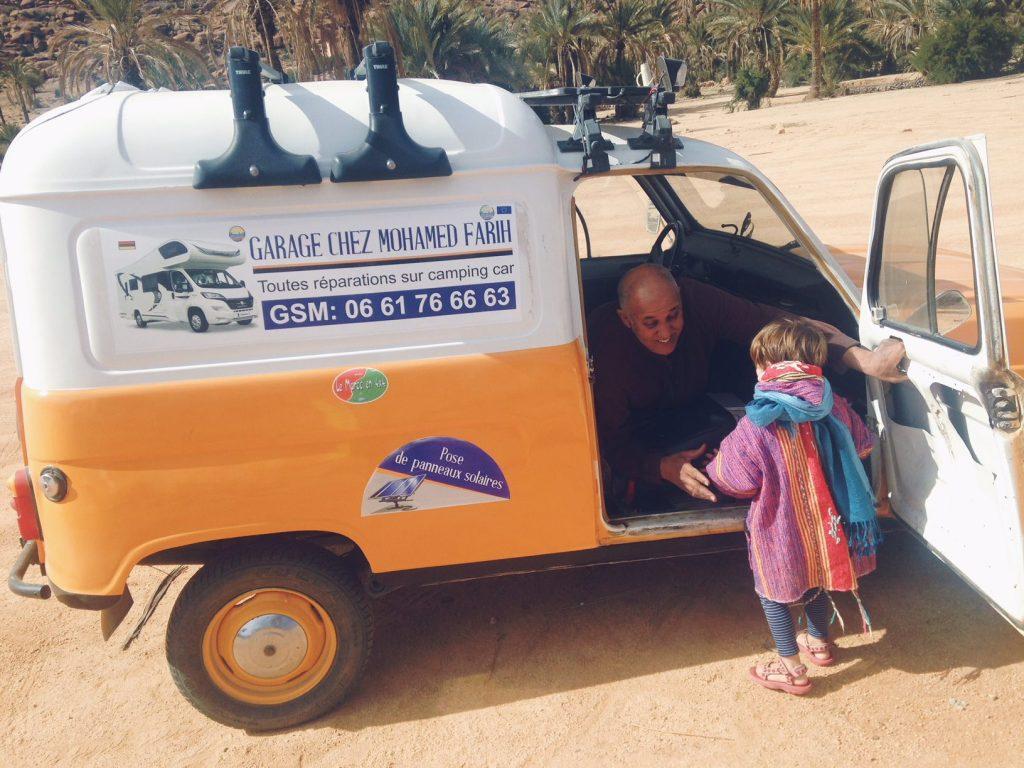 Voyage au Maroc Tafraout garagiste mohamed farih