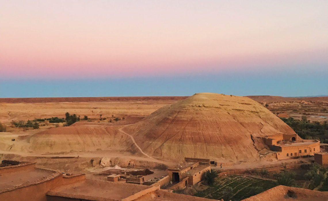 Voyage au Maroc Aït Ben Haddou, coucher de soleil