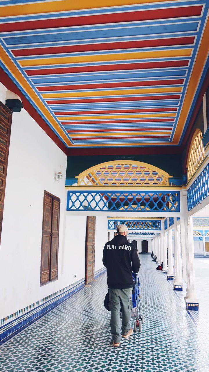 Voyage au Maroc Marrakech palais de bahia couloir