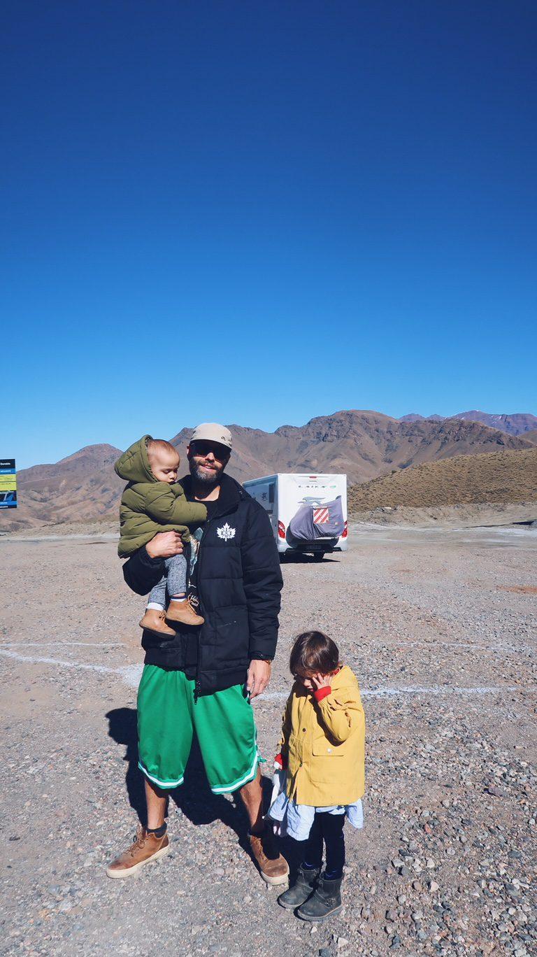 Voyage au Maroc Tizi n'Tichka pause route