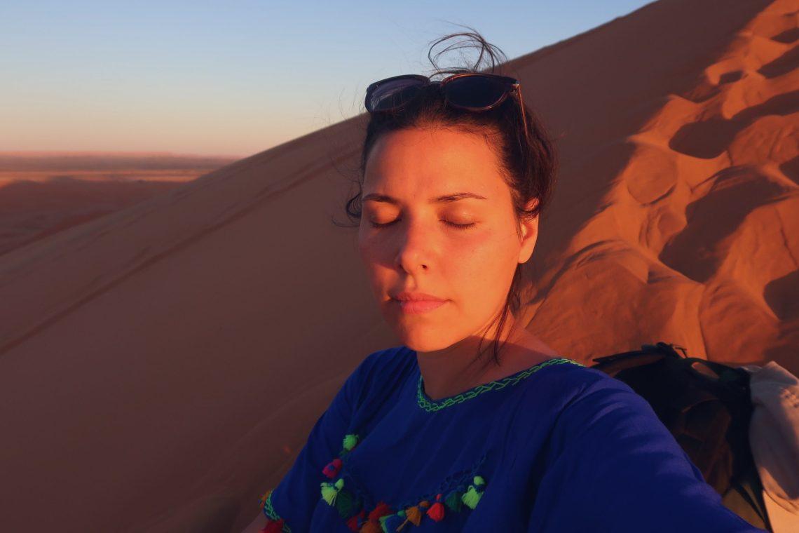 Voyage au Maroc désert de Sahara Merzouga coucher de soleil