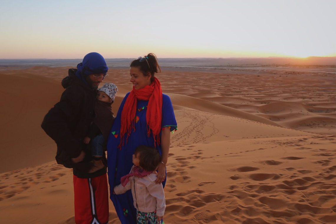 Voyage au Maroc désert de Sahara Merzouga avec la famille