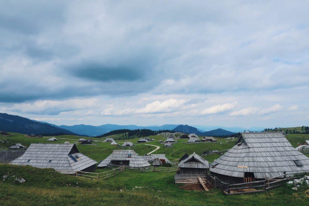 Slovénie Velika Planina panorama