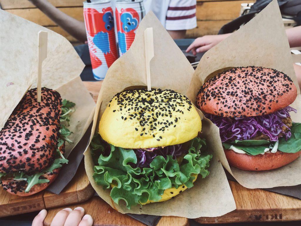 Slovénie ljubljana vegan burger og