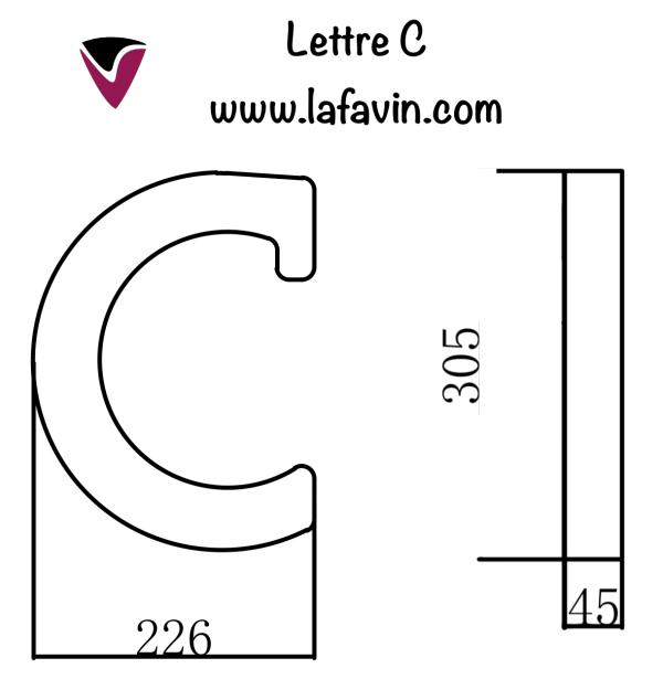 Lettre C Dimensions