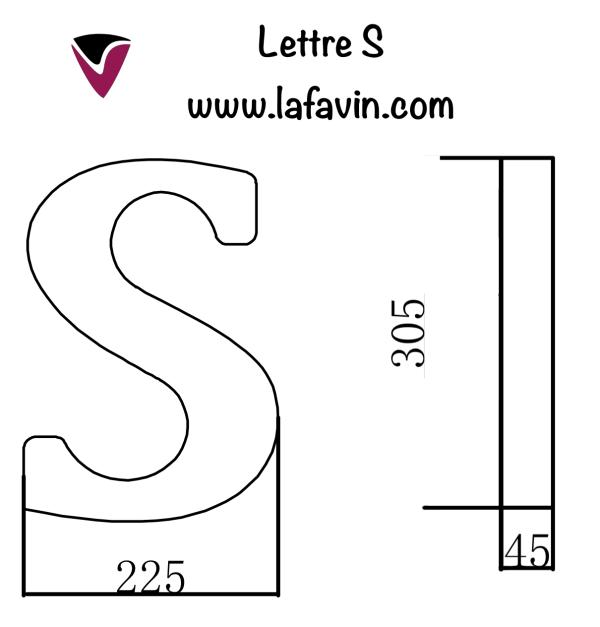 Lettre S Dimensions