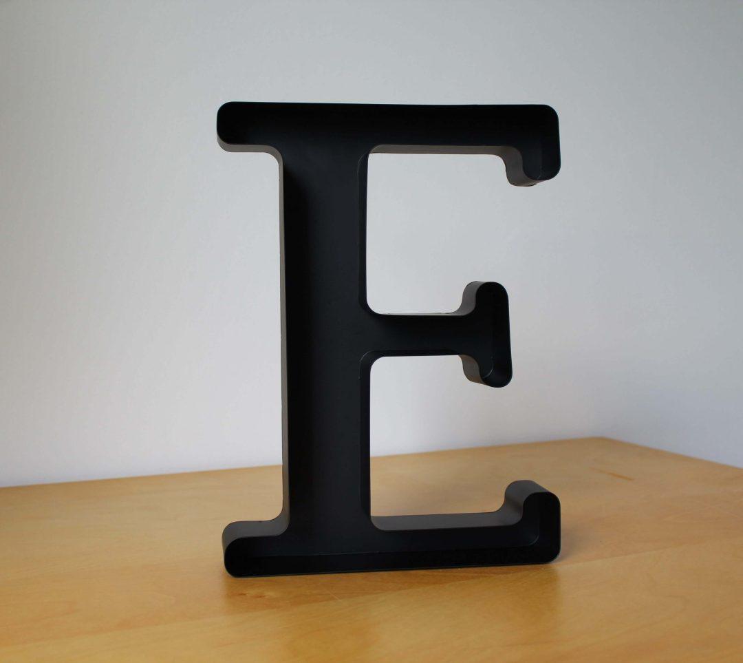 Lettre E déco