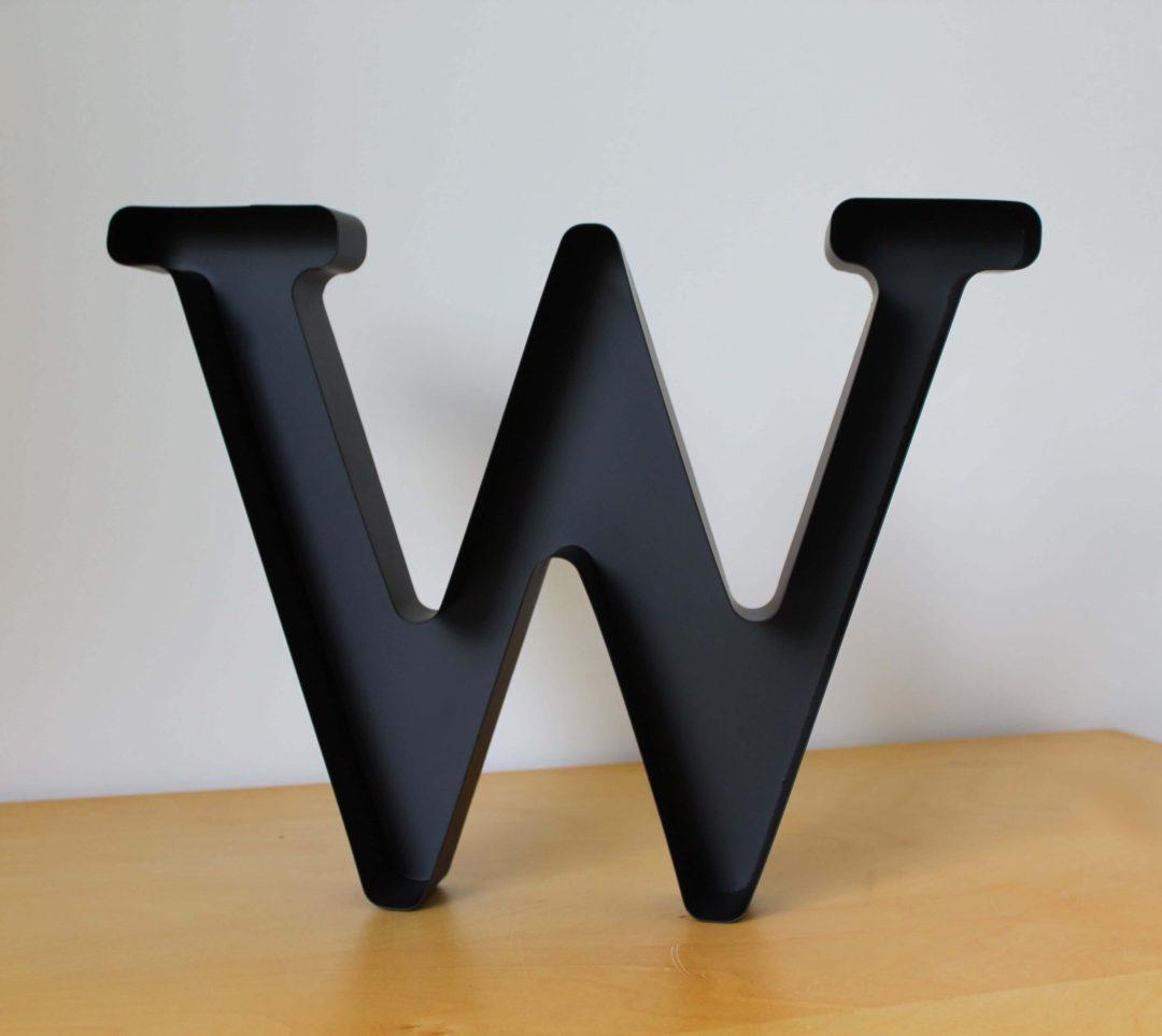 Lettre W bouchons