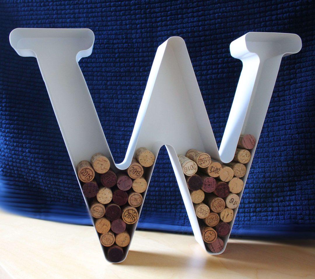 Lettre W blanc lafavin