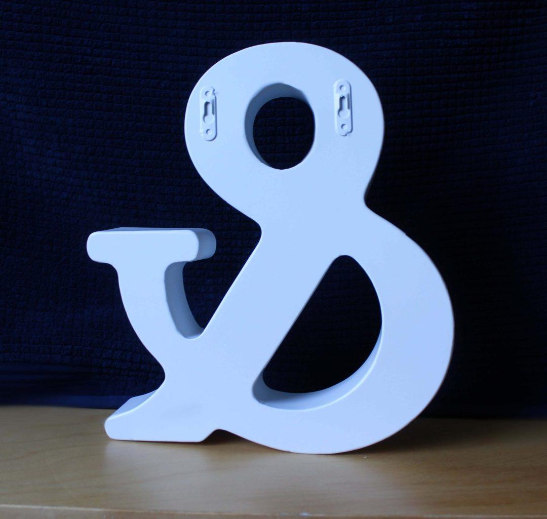 symbole esperluette blanc