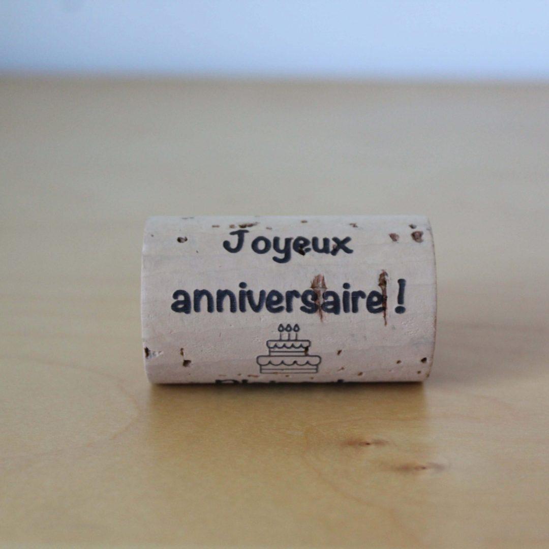 Bouchon joyeux anniversaire LAFAVIN