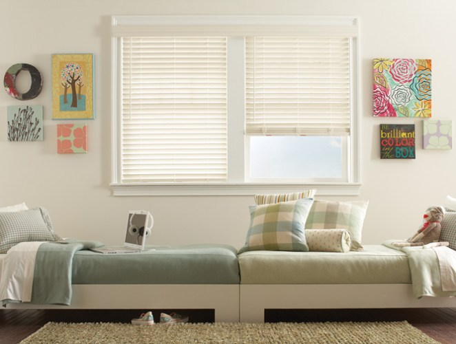 Fidelis® Hybrid Composite Wood Blinds with Accu-Rise® Cordless Lift Control