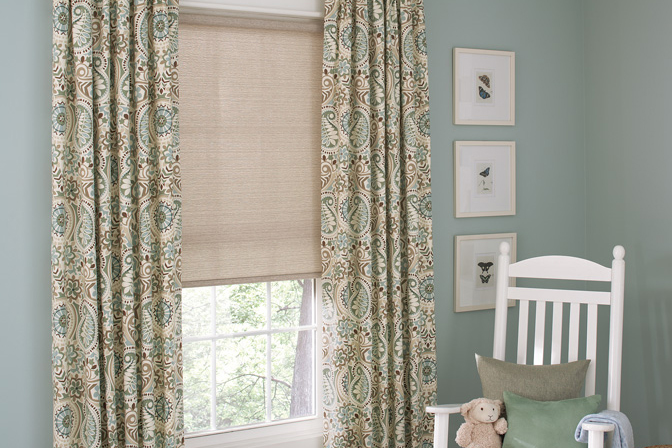 Genesis Roller Shade and Soft Fashions Draperies