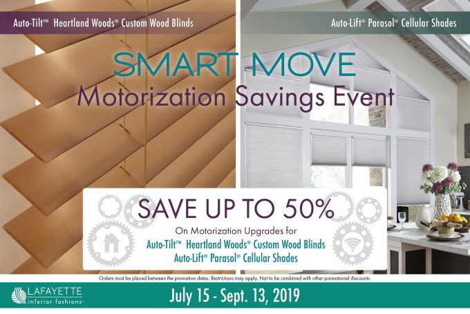 Smart Move Motorization Savings Event with Lafayette Interior Fashions
