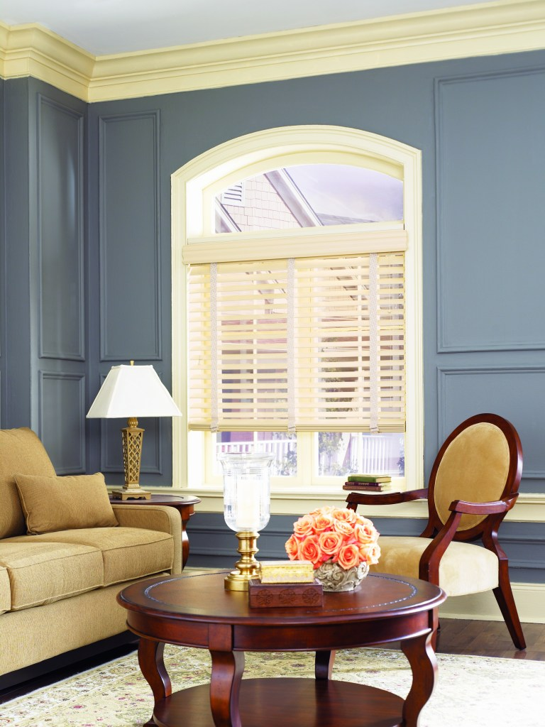 Heartland Woods Wood Blinds in a white