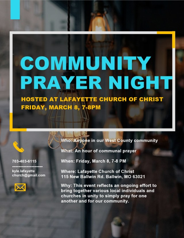 Community Prayer Night