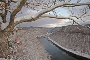 Winter in the New River Gorge.