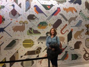 Amy Visiting the Charley Harper Mosaic Mural in Cincinnati