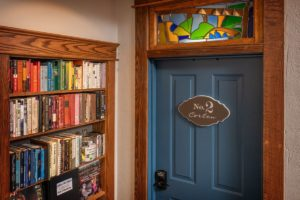 The library for the creative residency and our vacation rental guests.