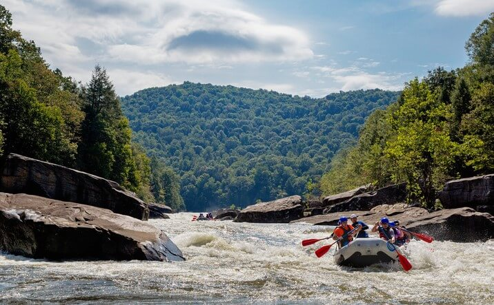 Whitewater rafting is only one of the many recreational activities in the New River Gorge.