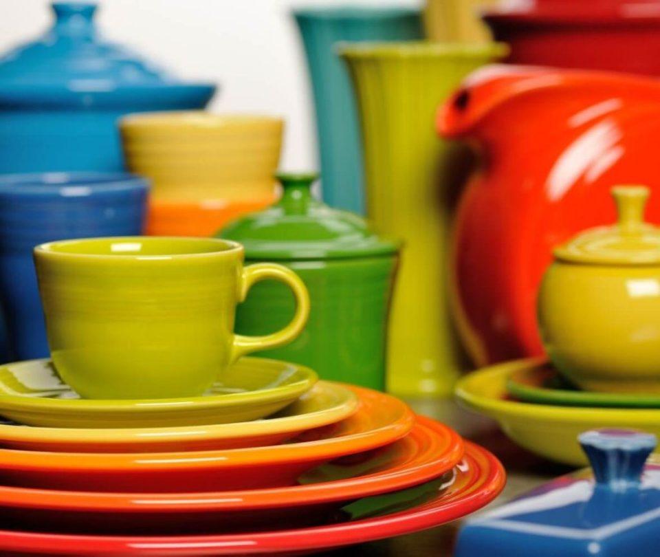 The rainbow colors of Fiestaware