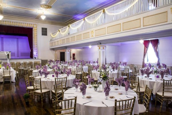 A view of the mezzanine in the Grande Ballroom.