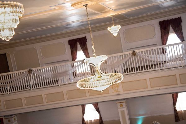 The Grande Ballroom - Chandeliers and accents. Throughout the entire building are accents and details from skilled laborers and artisans that don't exist but in the finest historic buildings. These are the original Chandeliers from the 1920's.