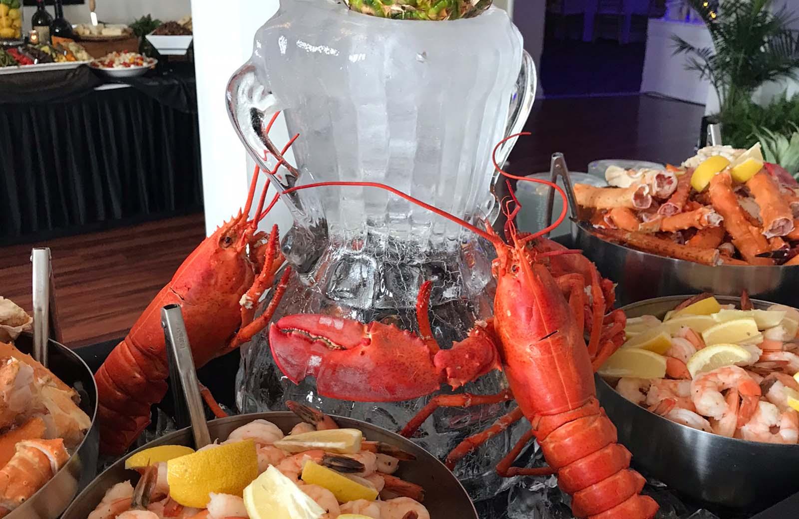 Maine Lobster, Ice Sculptur Appetizers - Lafayette Grande Banquet Facility - pictures