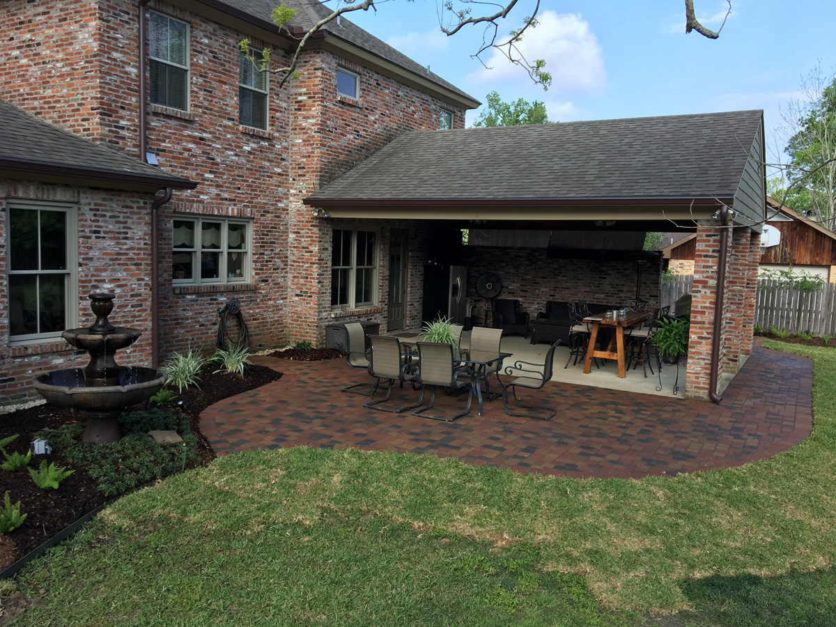 landscaping outdoor lighting paver
