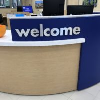 CarMax Welcome sign installation