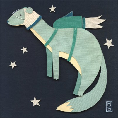 Little Rocket Weasel by Meghan Stratman