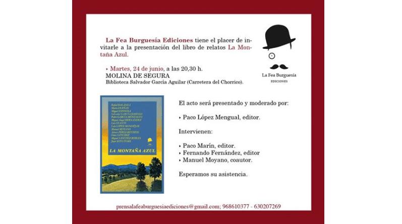 Presentación del libro La Montaña Azul en Molina de Segura