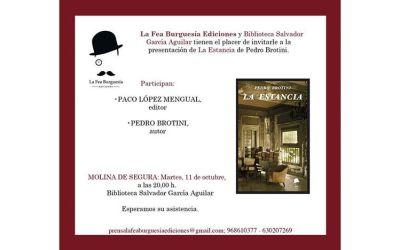 """Presentación del libro """"La Estancia"""" en Molina de Segura"""