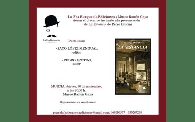 Presentación del libro La Estancia de Pedro Brotini en Murcia
