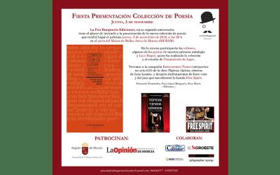 Fiesta de presentación de la nueva colección de poesía