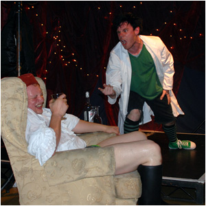 The Cad in the absinthe monologues sponsored by La Fée absinthe