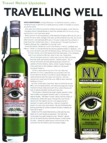 Article regarding la Fée Absinthe's