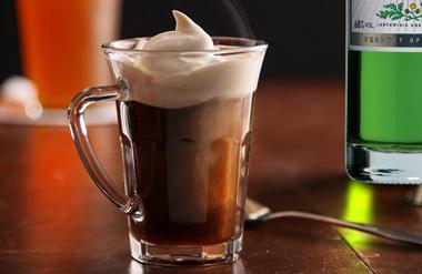 Irish coffee with La Fée