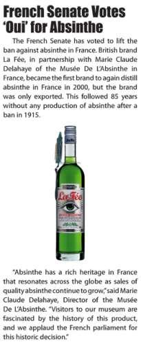 MDA article about La Fée absinthe