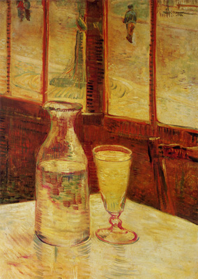 1887 Still Life With Absinthe Van Gogh Vincent van Gogh, by Henri de Toulouse-Lautrec 1887