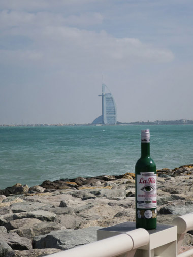 Bottle of La Fée absinthe in Dubai
