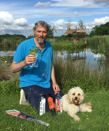 George Rowley and Hettie with a ENVY Rhum Mojito