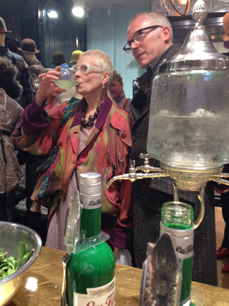 La Fée absinthe at the opening of Child of the Jago